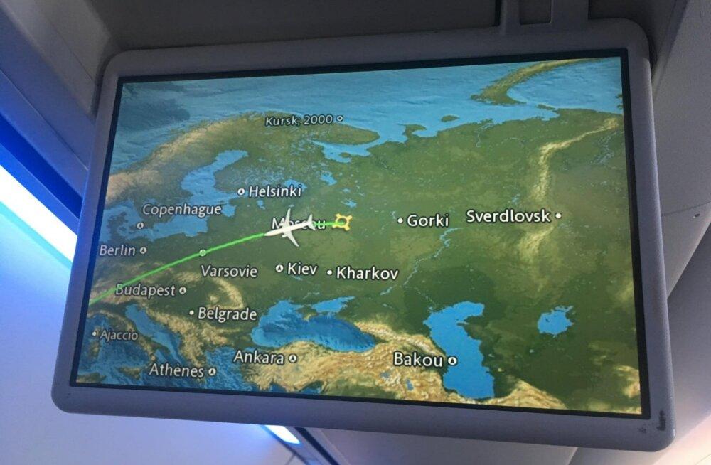 """Зачем на карте мира в самолетах марокканских авиалиний указаны места кораблекрушений, а также """"Свердловск"""" и """"Горький"""""""