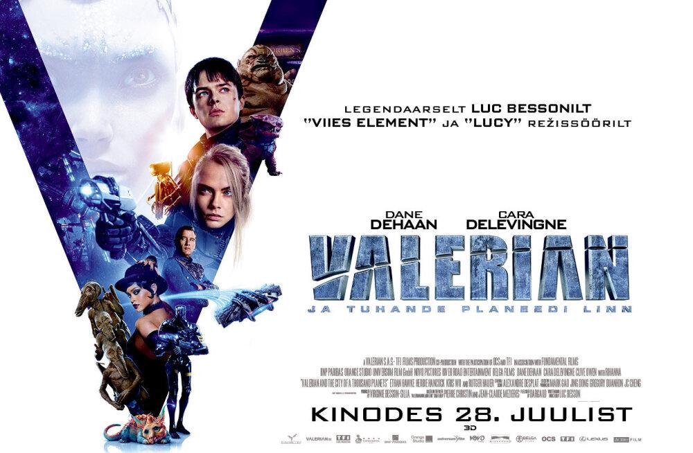 """""""Valerian ja tuhande planeedi linn"""" viib vaatajad unustamatule kosmoserännakule. Kinodes alates 28. juulist"""