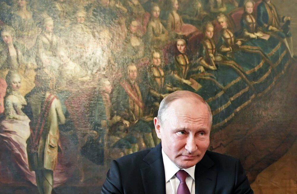 Vladimir Putin käis viimati Austria pealinnas Viinis juunis. Foto on tehtud presidendilossis.