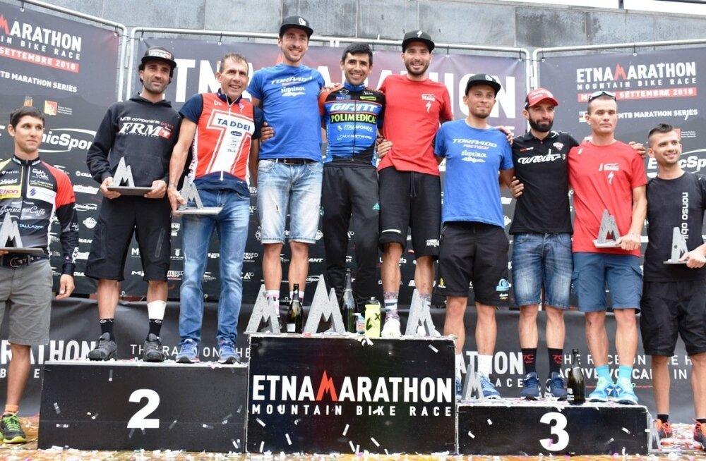 Etna maratoni meeste võistluse poodium