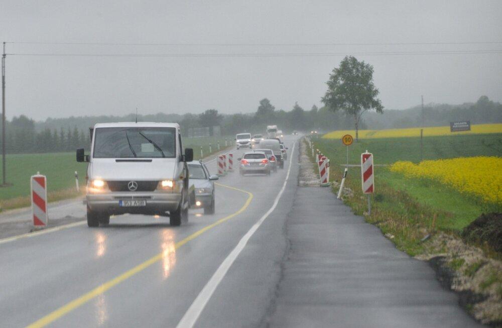 Tänased teeolud ja liikluspiirangud
