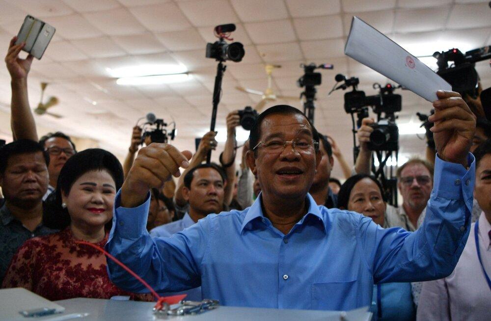 Kambodža peaministri partei teatas, et võitis valimistel kõik parlamendikohad