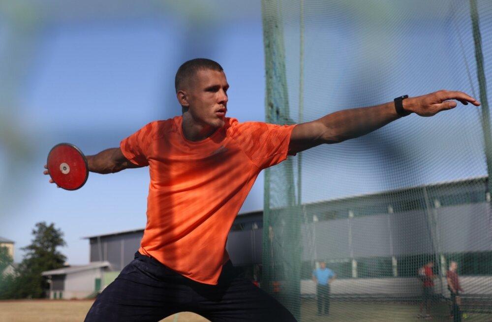 Maicel Uibo käis EM-i eel võistlustunnetust kogumas.