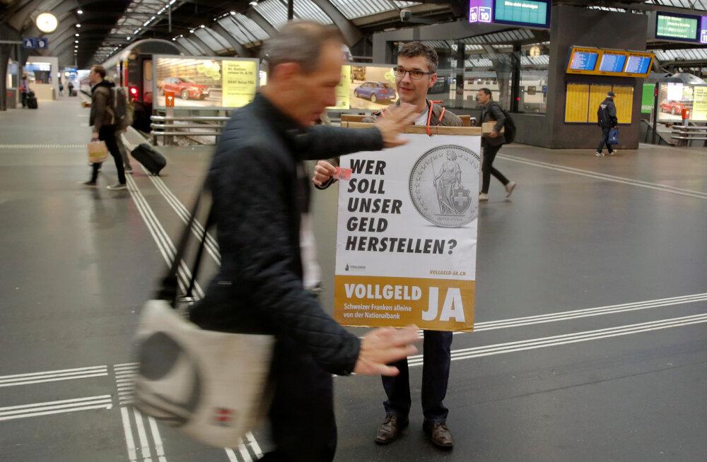Šveitsis on rahvahääletusel utopistlik rahaplaan