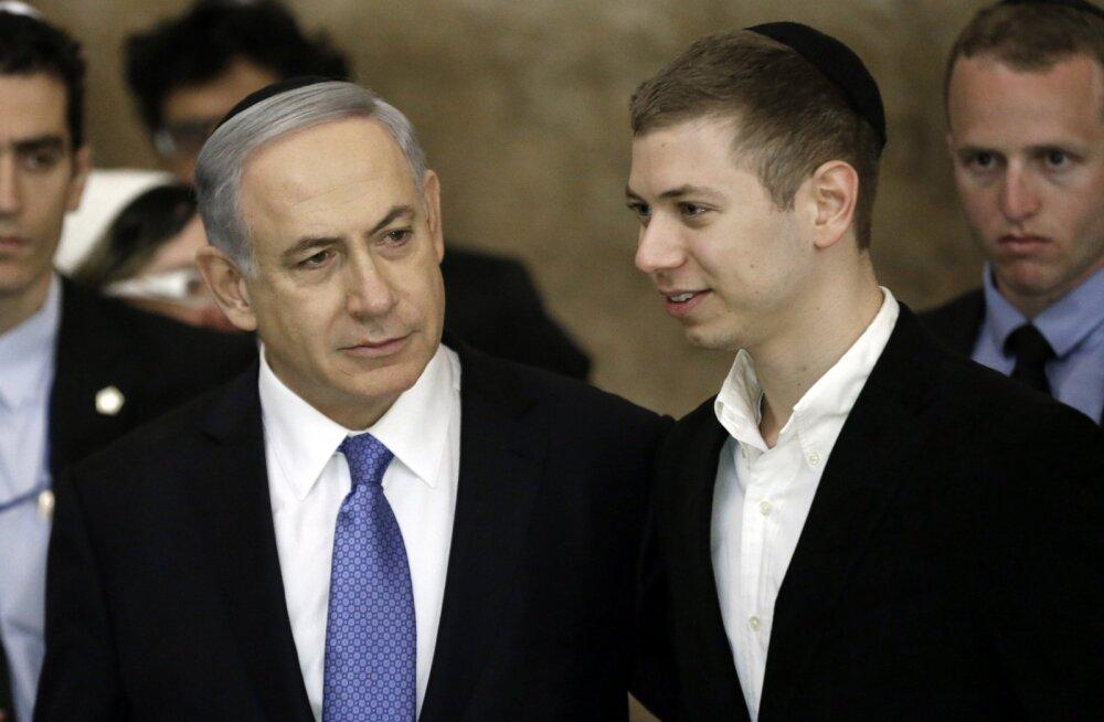 Iisraeli peaminister Benjamin Netanyahu poeg Yairiga