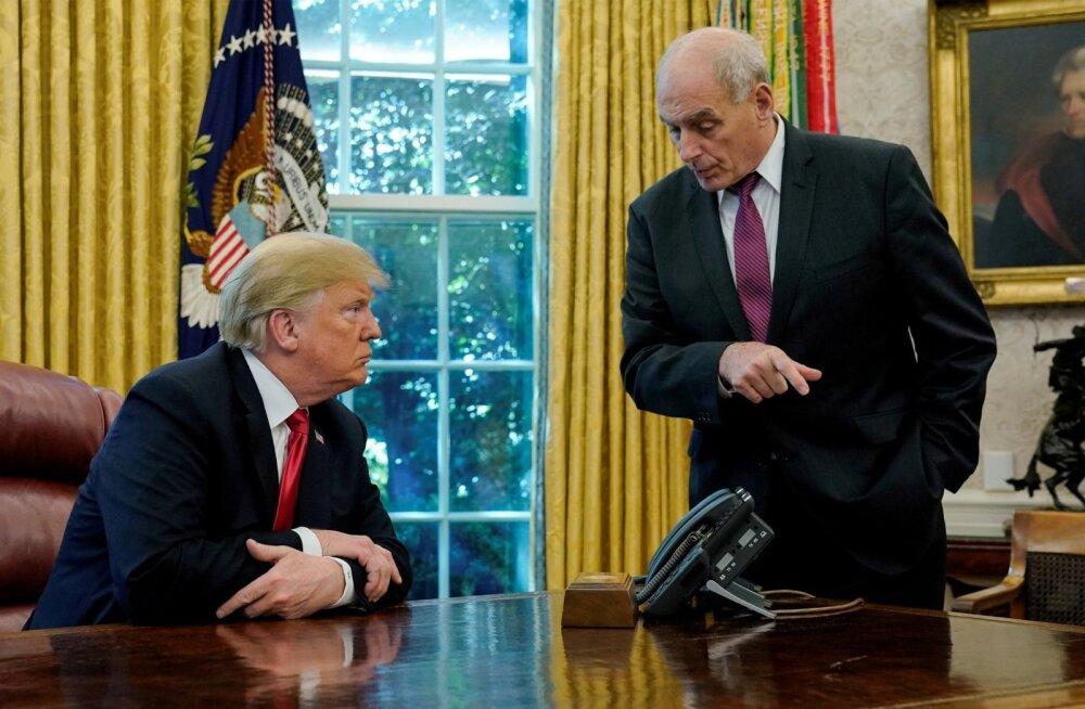 USA president Donald Trump ja tema kabinetiülem John Kelly oktoobris Valges Majas