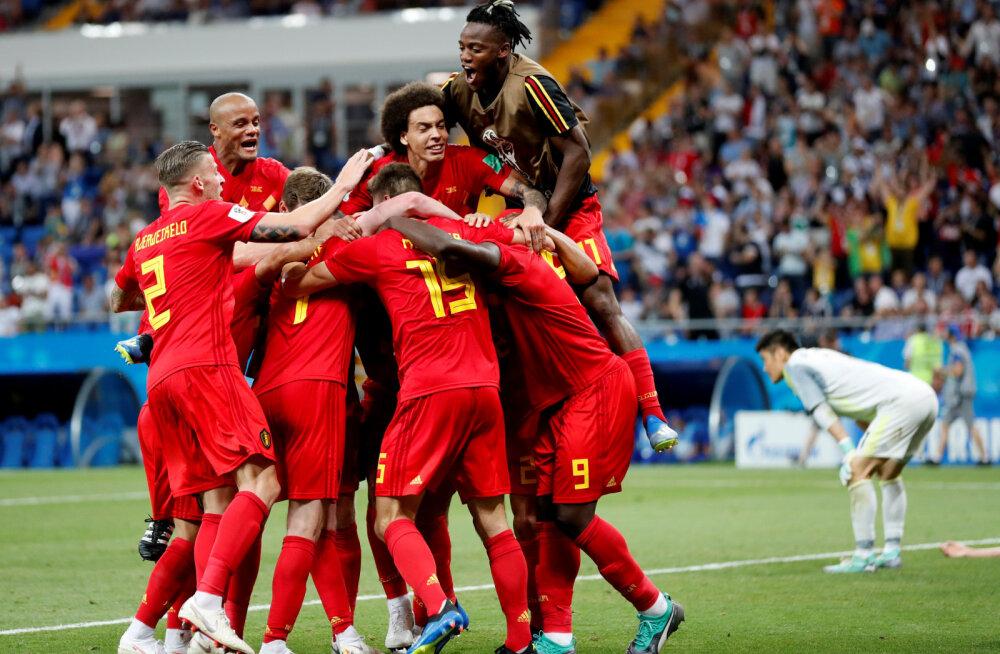 BLOGI | Uskumatu mäng! Jaapan oli imele lähedal, aga Belgia suutis viimasel minutil võiduvärava lüüa!