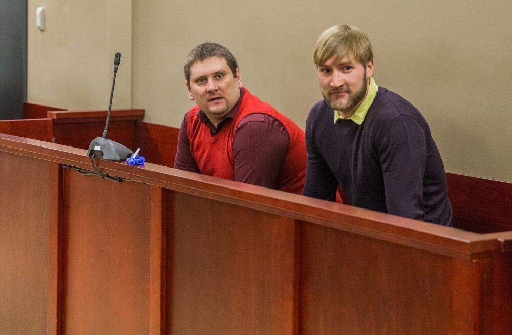 Jõugu ninamehed Peeter Kutsar (vasakul) ja Patrick Mürk olid ka varem kohtulikult karistatud ning veedavad järgmised aastad trellide taga.