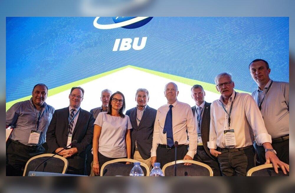 IBU juhatus, president Olle Dahlin paremalt neljas