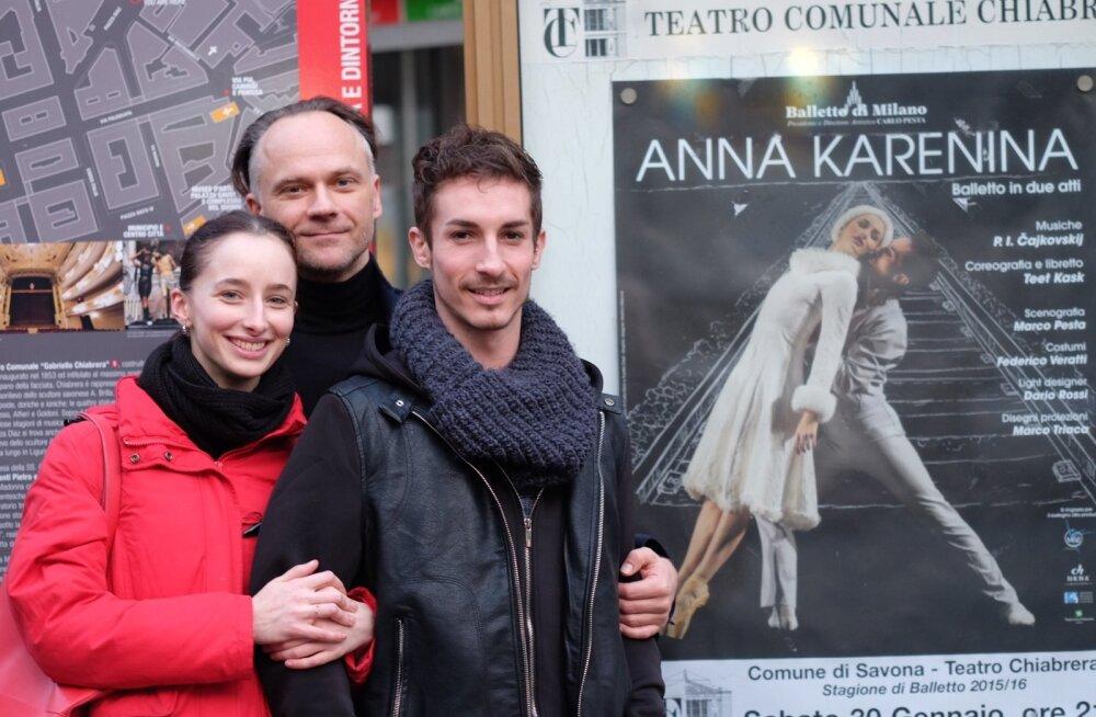 Teet Kask peaosi kehastavate Alessia Campidori ja Alessandro Torelliga