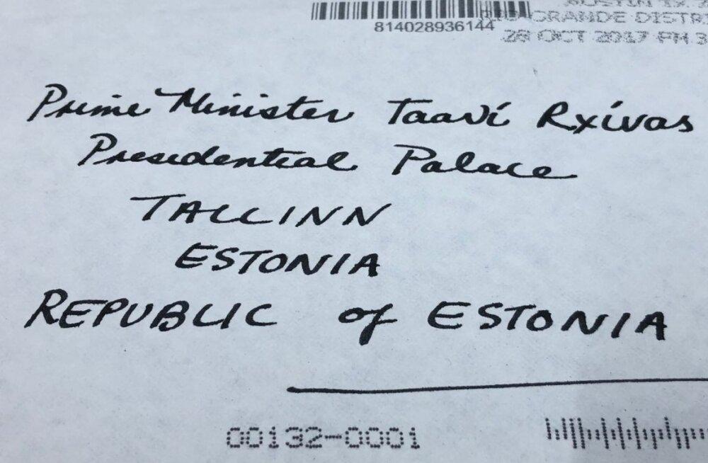 FOTO | Rõivasele presidendi lossi saadetud kiri jõudis Omniva abil ikkagi õigesse kohta