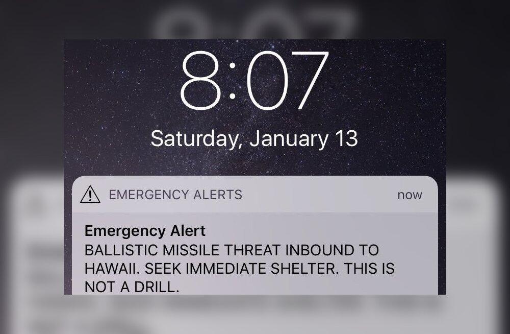 Vajutati vale nuppu: Hawaiil antud raketihäire põhjustas lihtne inimlik eksitus
