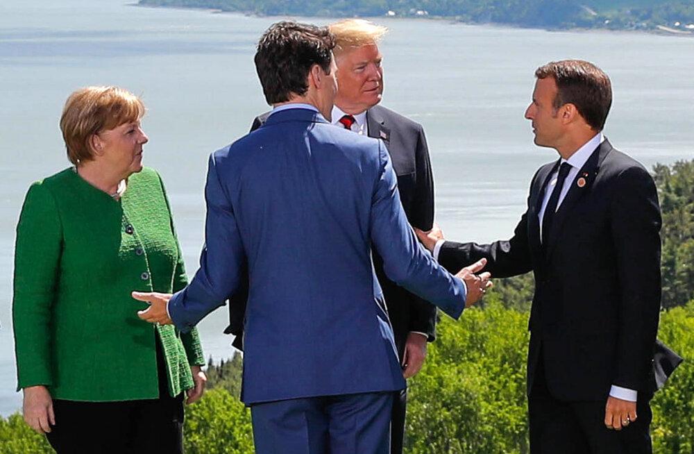 Prantsusmaa ja Saksamaa juhid kritiseerivad Trumpi käitumist. Merkel: me ei saa enam USA peale loota