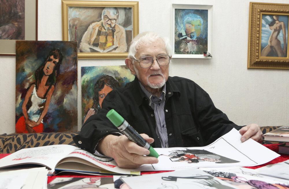 89aastane šaržimeister, karikaturist ja humorist Hugo Hiibus: elan valesti ja ebatervislikult