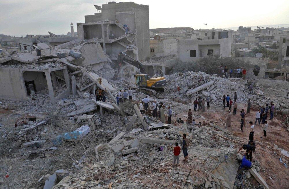 Vaatluskeskus: õhurünnakus Süürias hukkus vähemalt 44 tsiviilisikut