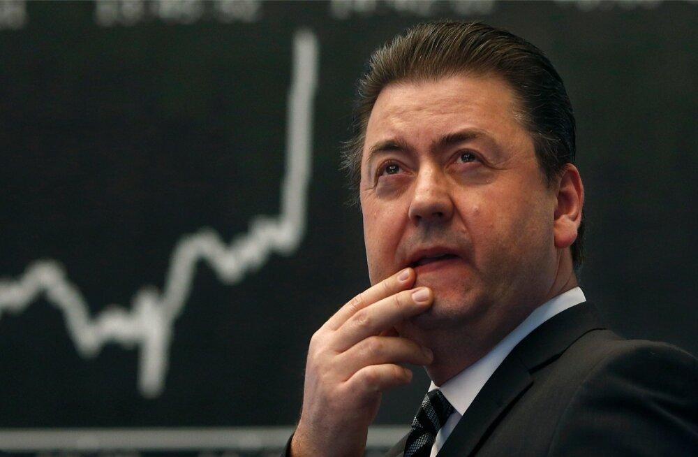 Maakler Saksamaa DAX indeksi ees.