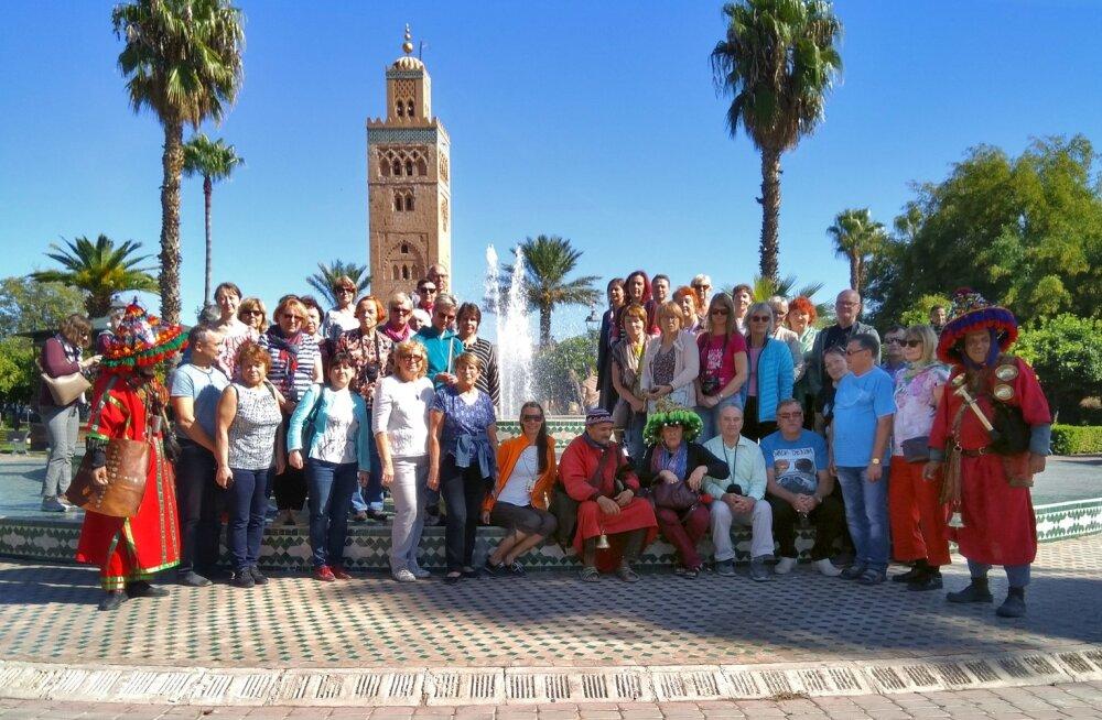 Maalehe reisisellid kogunesid ühisfotole Marrakechis.