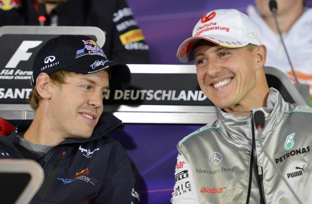 Nii Sebastian Vettel kui Michael Schumacher on tippsõitjateks sirgunud Kerpeni ringrajal