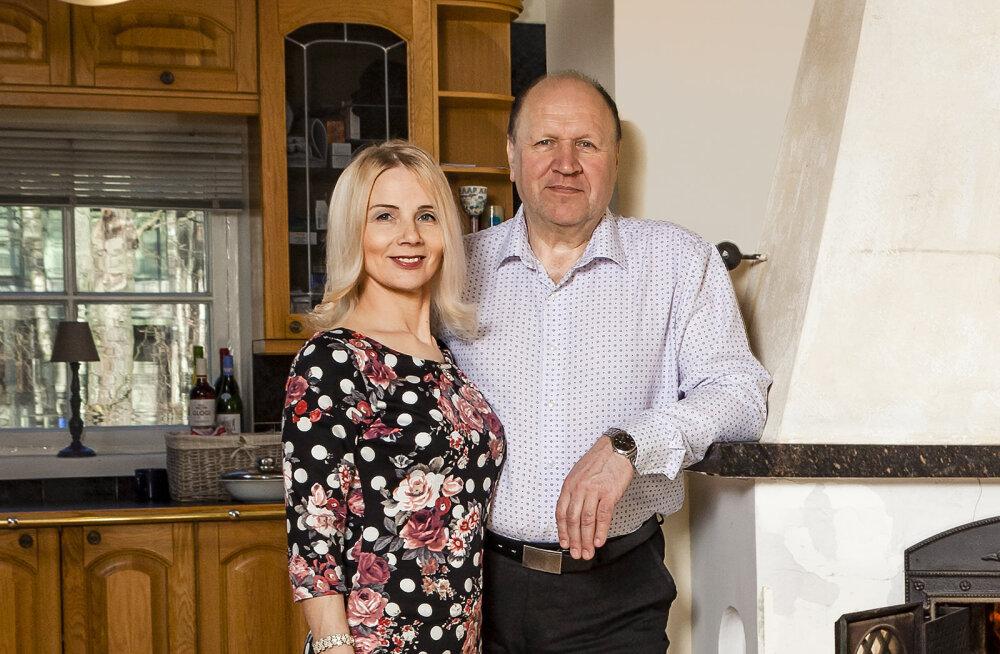 KULLAFONDIST: Monika ja Mart Helme ruumikas kodu
