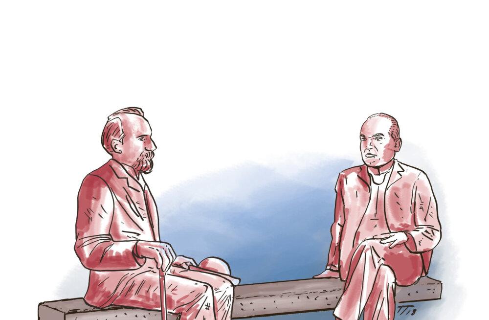 Sergei Metlev: ilus mälestusmärk oleks pink, mille peal vestlevad Tõnisson ja Päts