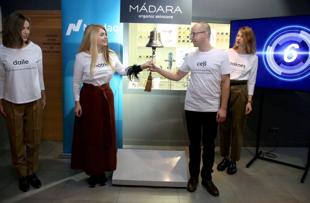 FOTOD   Läti looduskosmeetika tootja Madara aktsia hind tõusis esimesel börsipäeval 25%