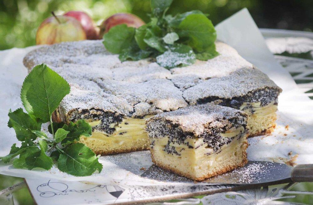 Augustiüllatus: Lia Virkuse õunaplaadikook mooniseemnetega