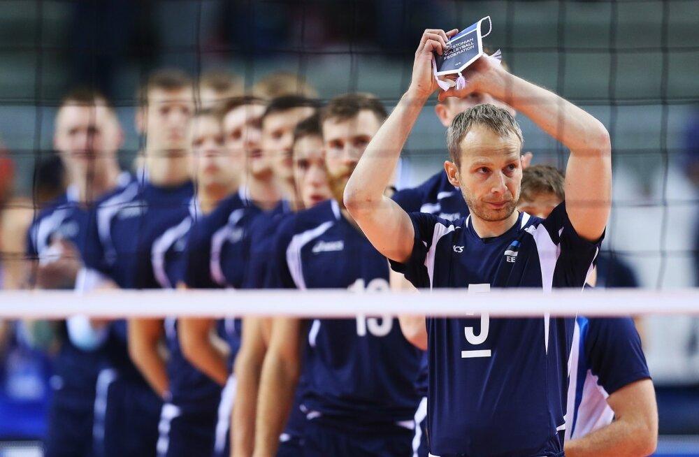 Prantsusmaa v Eesti võrkpalli EM finaalturniiri mäng Pala Vela Arenal Torinos.