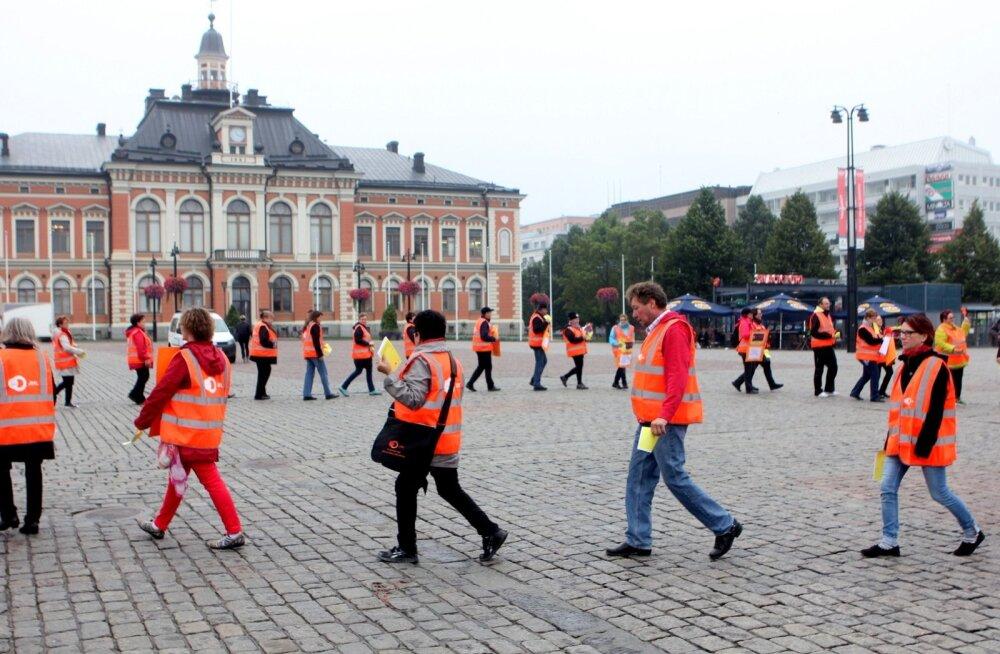 Soome streik Kuopio linnas