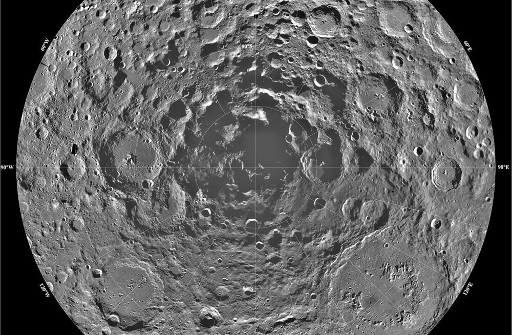 Gravitatsioon toob päevavalgele Kuu varjatud kraatrid