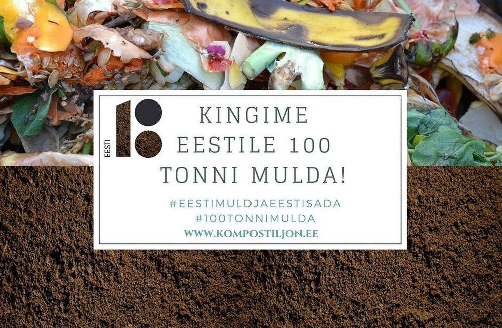Eestile kingitakse juubeliks 100 tonni komposti. Anna oma osa!