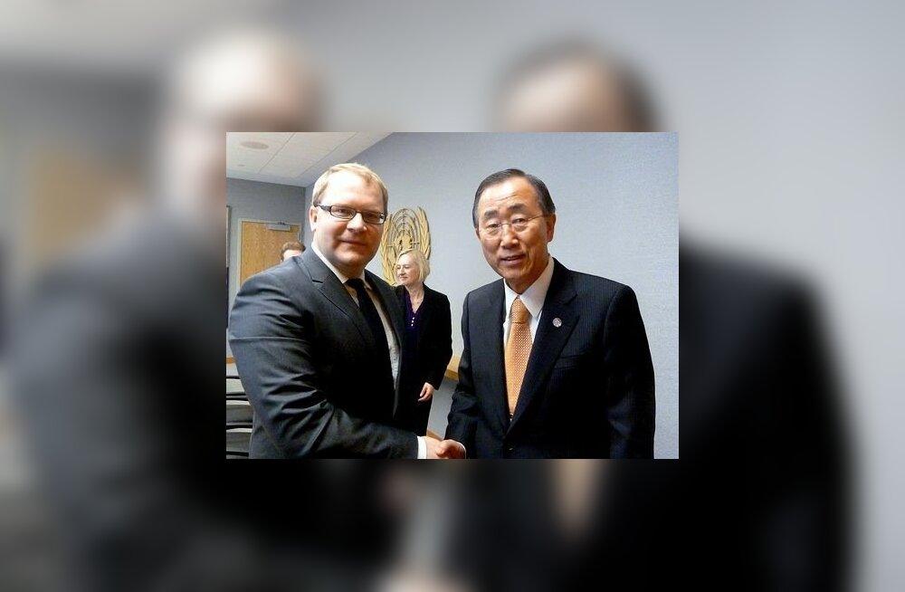 Urmas Paet ja Ban Ki-moon