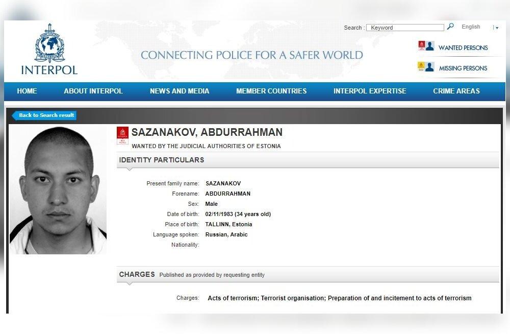 Interpol otsib taga Eestist pärit Süüria islamistidega liitunud Ivan Sazanakovit