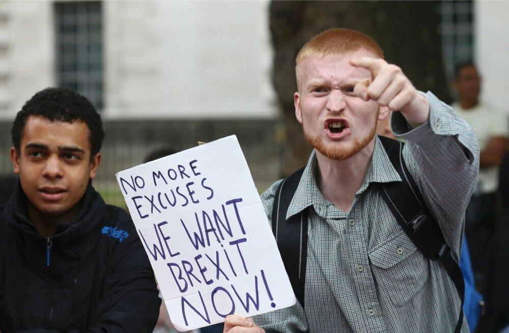 Nädalavahetusel protestisid Londonis nii Brexiti pooldajad…