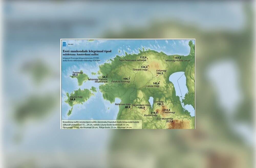 Suur Munamägi muutub Eesti 100. juubeli ajaks kõrgemaks: hakkame sügavusi ja kõrgusi arvutama Amsterdami nulli järgi