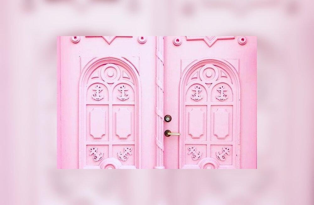 Nunnu või sobimatu? Kuidas meeldib sulle Hanna-Liina Võsa muusikalikooli maja roosa uks?