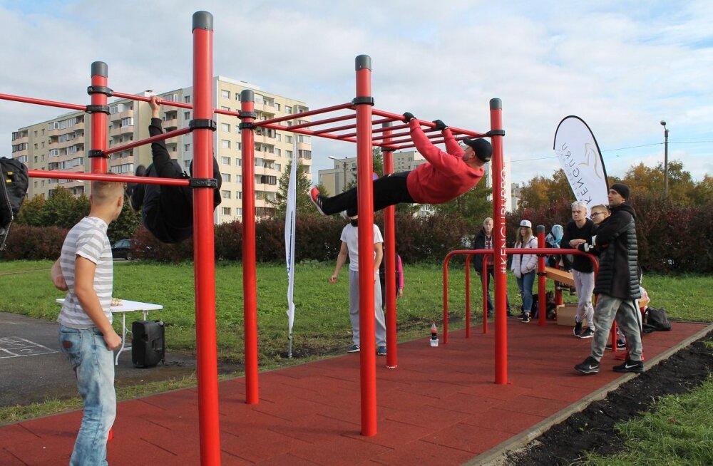 В Ласнамяэ открылась площадка для уличной гимнастики work-out