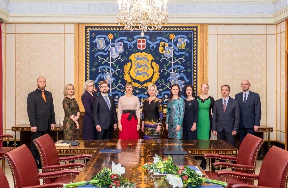 Üheksa uut kohtunikku andsid presidendile ametivande.