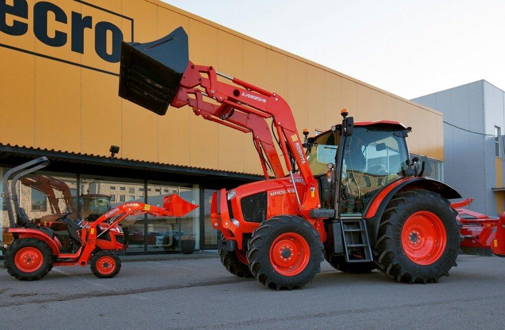 Kubota traktoreid on nii suuri kui väikesi.