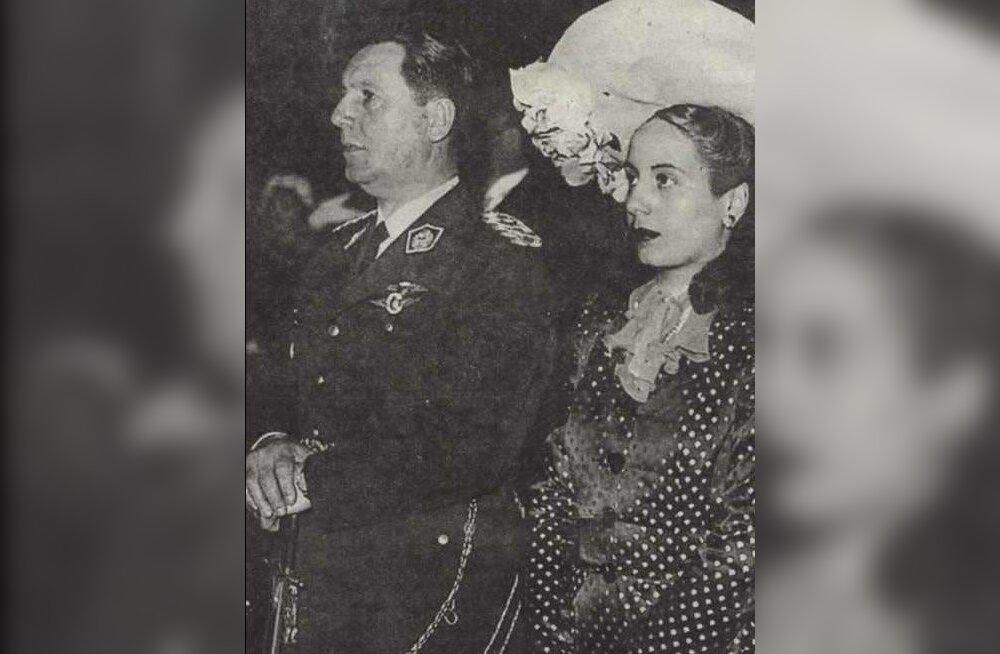 Naise surmaga algas Juan Peróni langus