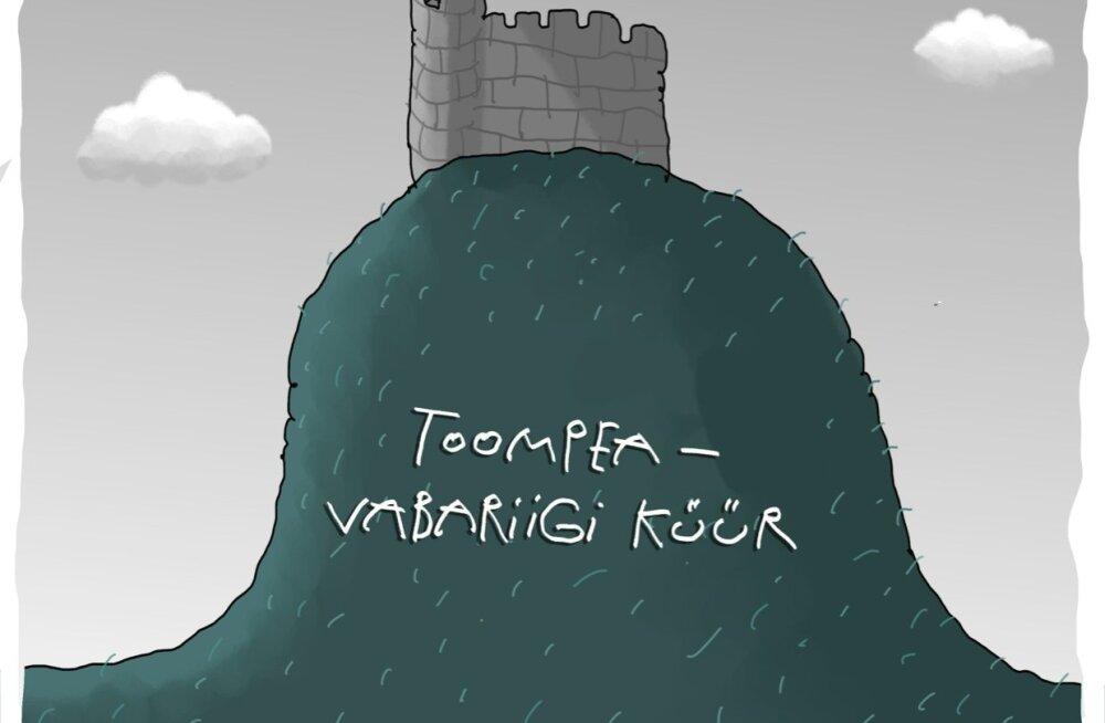 KARIKATUUR   Toompea – vabariigi küür