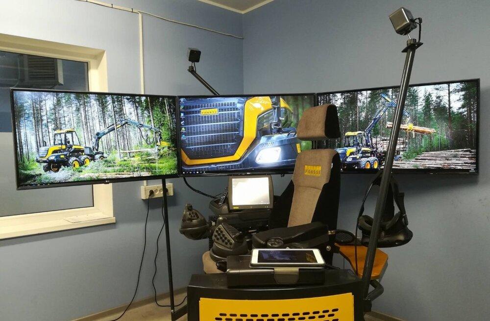 VIDEO   Luua metsanduskoolis avatakse kõrgtehnoloogiline seitsme erineva metsamasinaga õppeklass