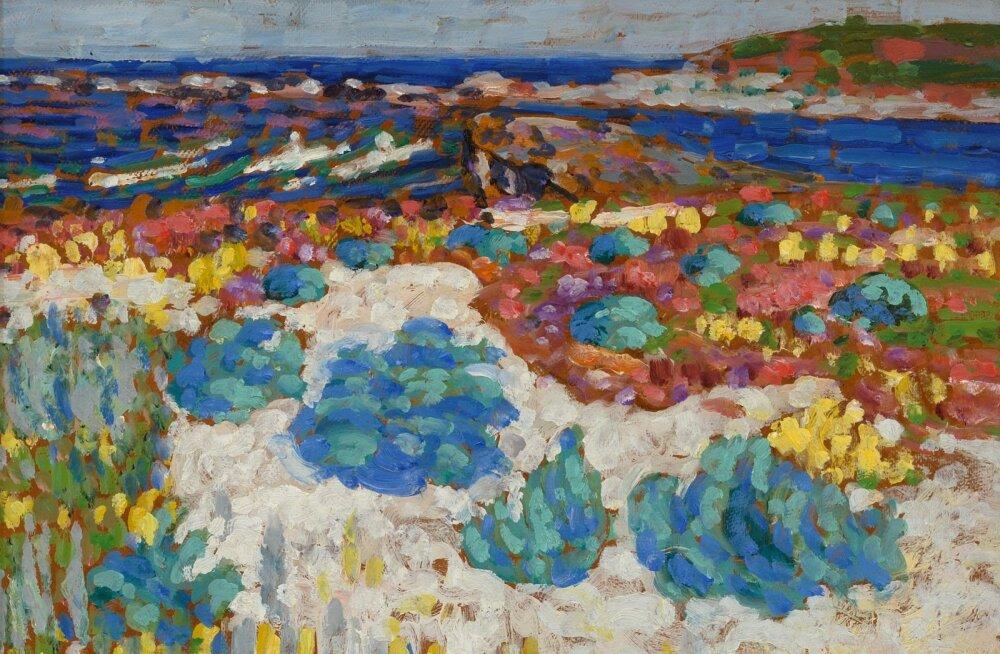 Paljureisinud Konrad Mägi jäädvustas just maastikke meelsasti. Tema värvidesse mattunud vaade Saaremaalt.