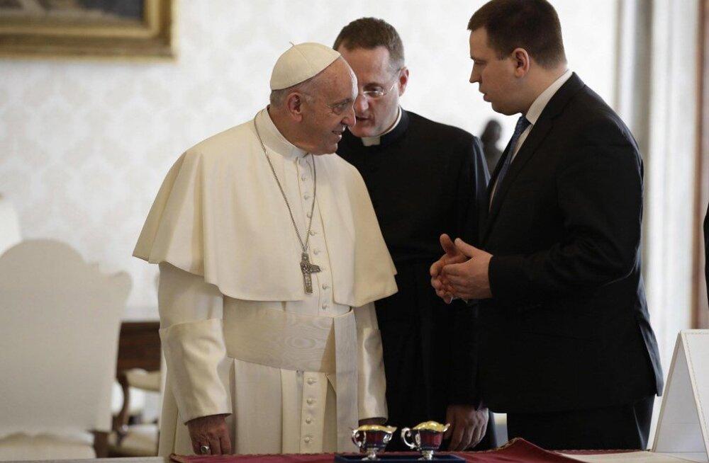 Юри Ратас и Папа Римский Франциск обсудили помощь людям, страдающим в зонах конфликтов