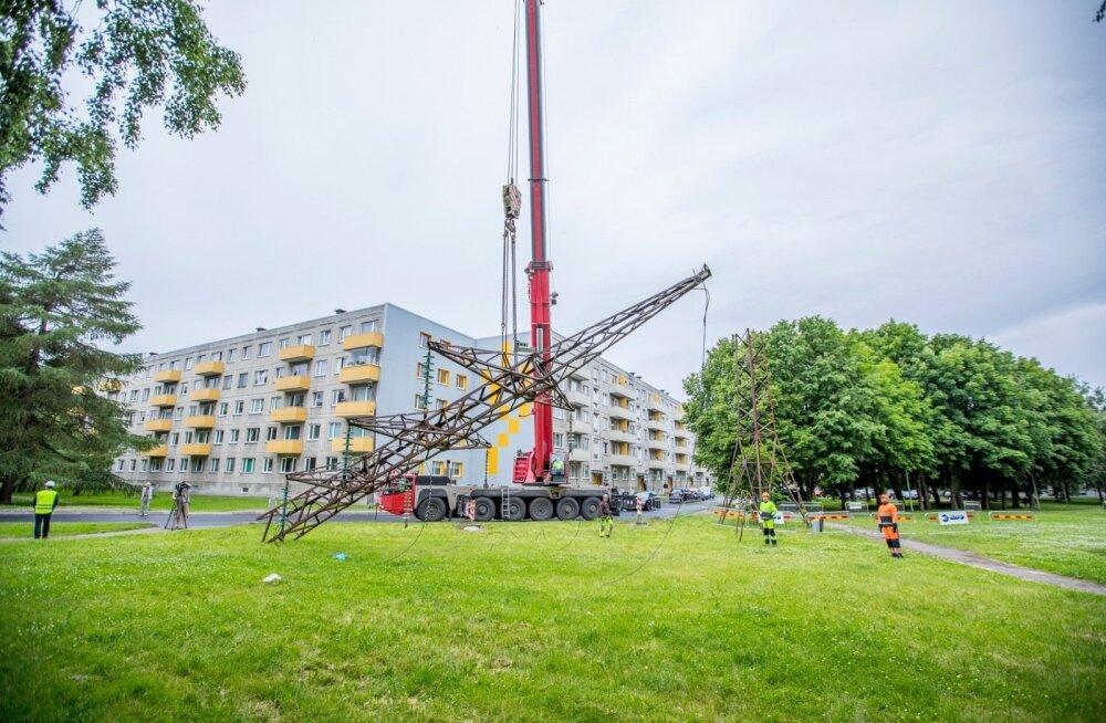 ФОТО и ВИДЕО: Линии электропередачи в Мустамяэ переносят под землю