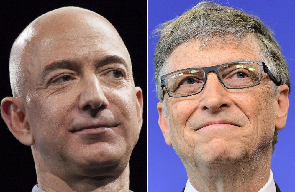Maailma rikkaima inimese tiitlit kannavad nüüd kaks inimest (kord üks, kord teine)