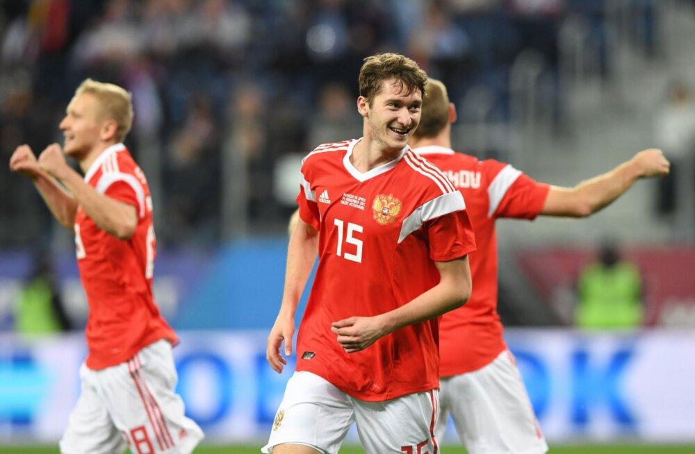 VIDEO   Aasta tagasi Levadias mänginud jalgpallur aitas Venemaa koondisel Hispaaniaga viigistada