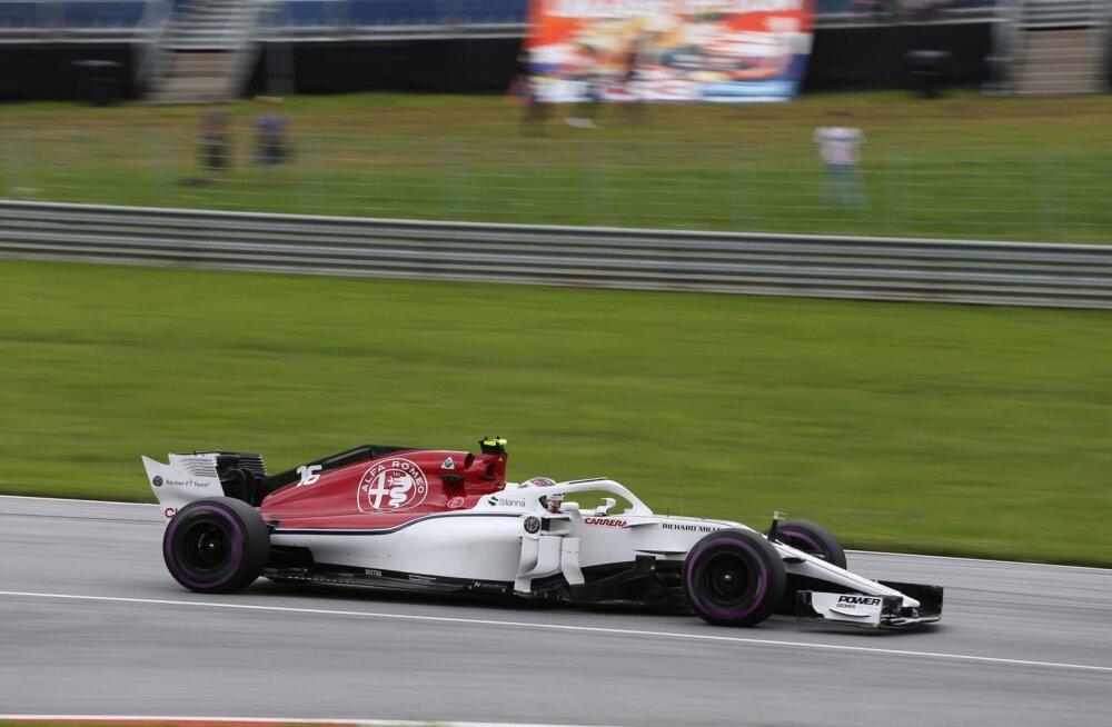 Charles Leclerc Sauber-Ferrari roolis.