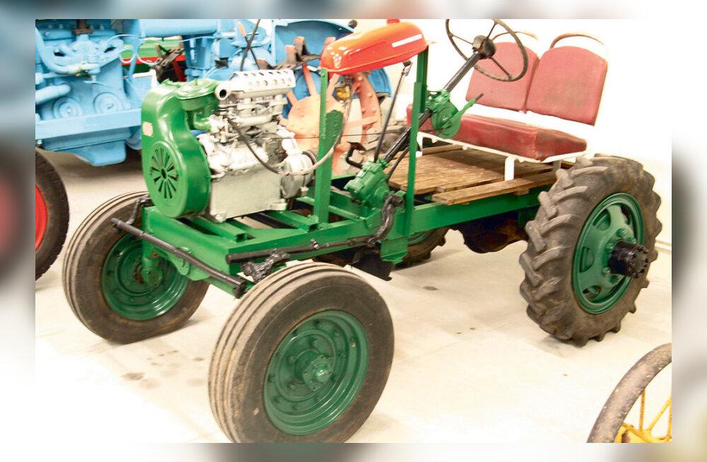 Omavalmistatud traktoreid Lõuna-Eestist