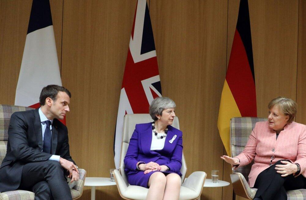 Emmanuel Macron, Theresa May ja Angela Merkel leidsid reedel Venemaa küsimuses haruldase üksmeele.