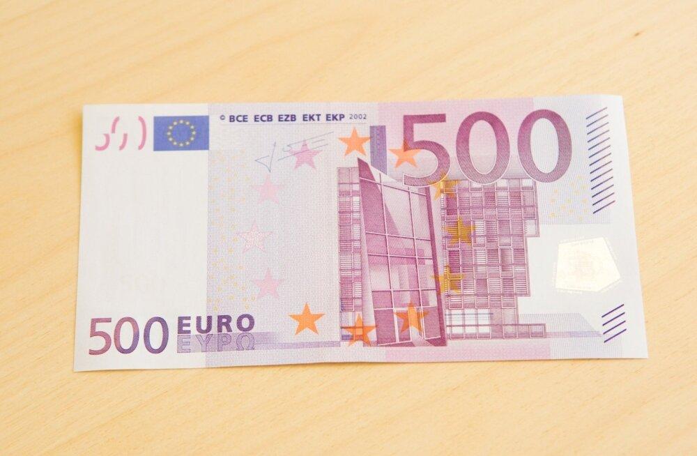 В Тарту в банкомате Swedbank обнаружили две поддельные купюры в 500 евро